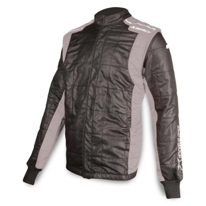 Jacket Racer Large Black/Gray