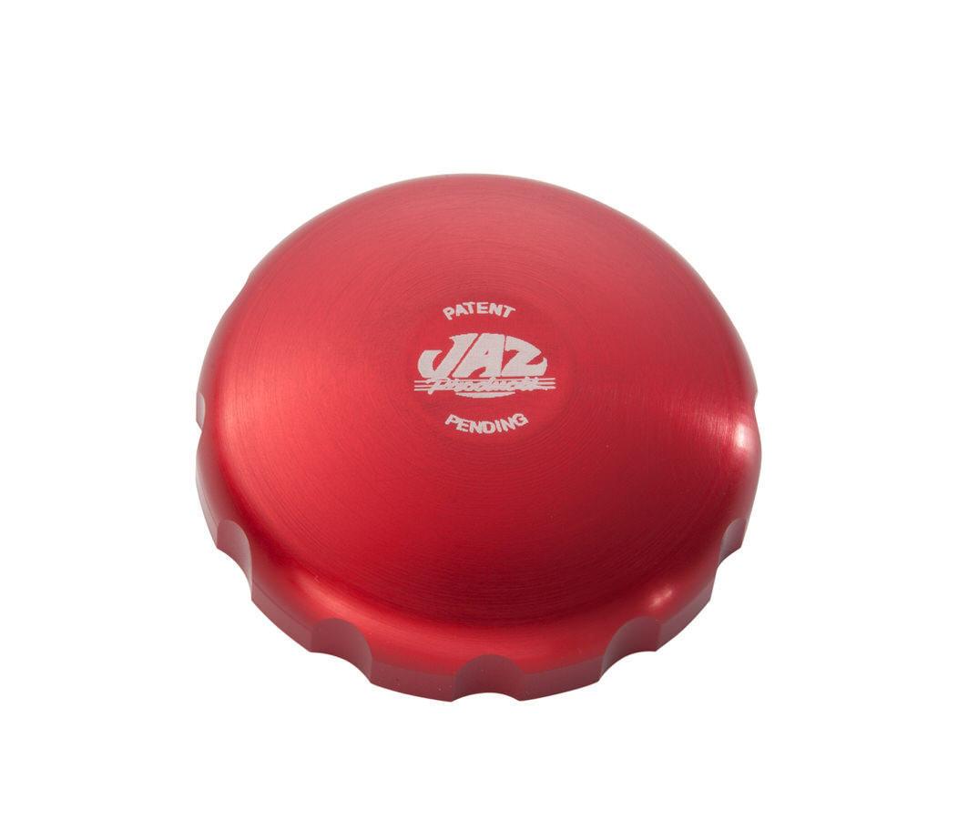 2-5/8 Billet Twist Fuel Cap - Red Anodized