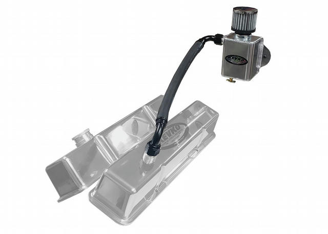 Remote Breather Kit Only Non Slip On Valve Cover