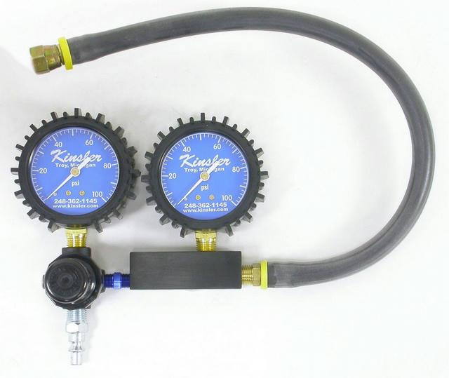 Dual Gauge Leakdown Tester Twin 0-100
