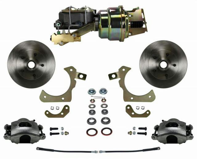 Power Front Kit with Pla in Rotors and Zinc Plate
