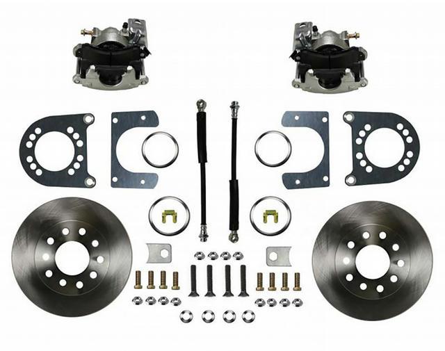 GM 55-68 Rear Disc Brak e Kit Zinc Calipers