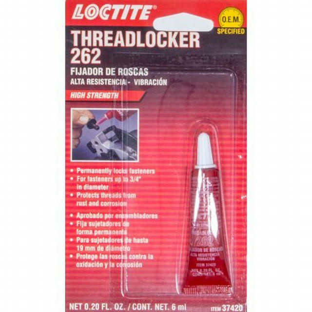 Threadlocker 262 Red 6ml/.20oz