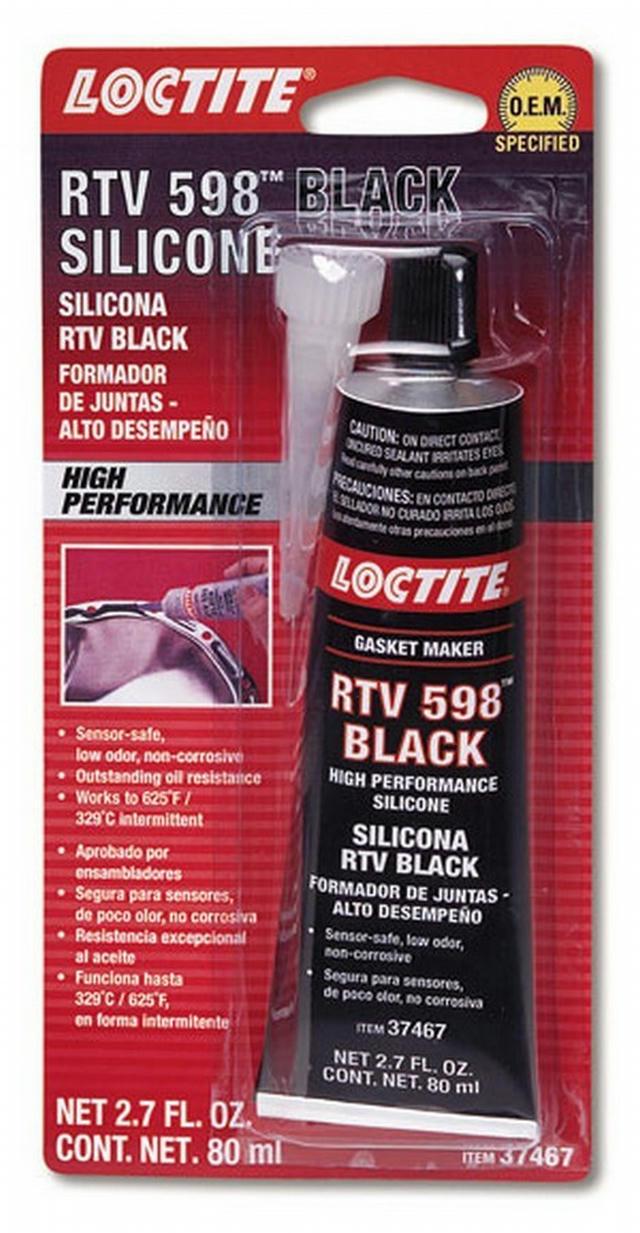 RTV 598 Black Silicone 80ml/2.7oz