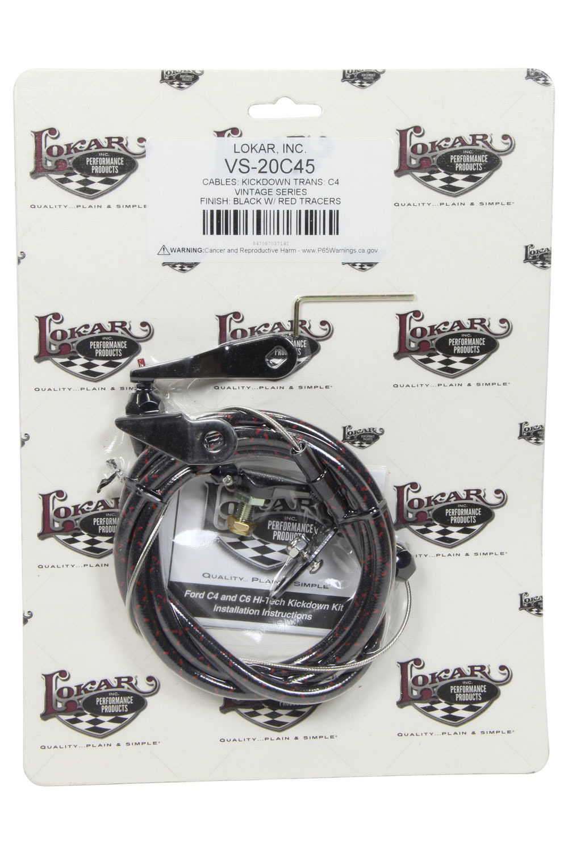 Vintage Series Ford C-4 Kickdown Cable Black