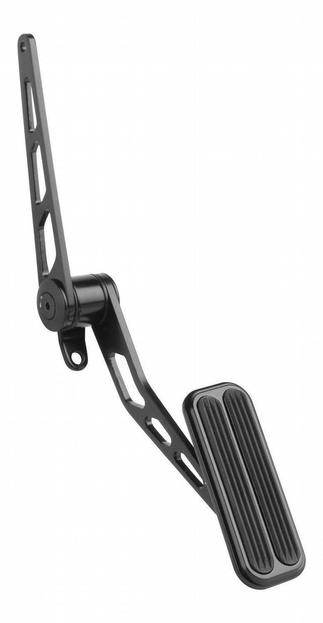 Blk Steel Spring-Loaded Throttle Pedal w/Rubber