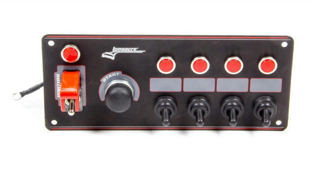 Ignition Panel Black w/ 4 Acc. and Pilot Light