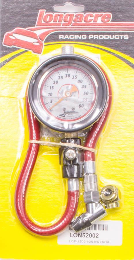 Tire Gauge 0-60PSI 2.5in GID Liquid Filled