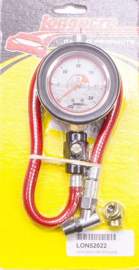 Tire Gauge 0-30PSI 2.5in GID Liquid Filled