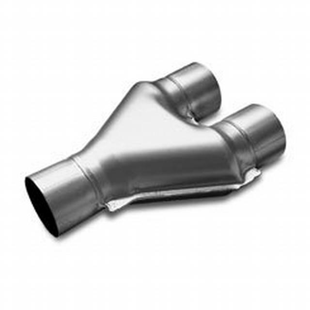 Stainless Y-Pipe Dual 2.5in Inlet/2.5in Outlet
