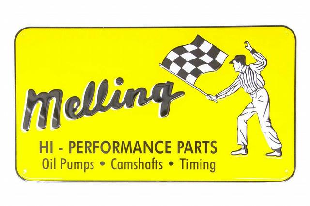 1960 Nostalgic Metal Sign - Yellow (Flag Man)