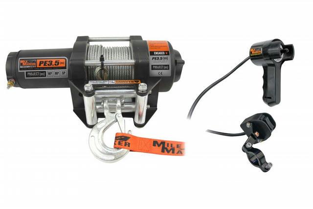 3500 lb ATV Winch w/ Roller Fairlead & Remote