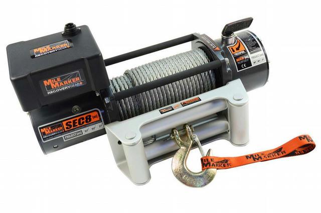 8000lb Winch w/Roller Fairlead 12' Remote