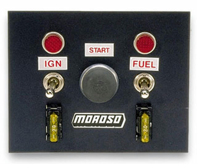 Toggle Switch Panel 4in x 5in - Black Finish