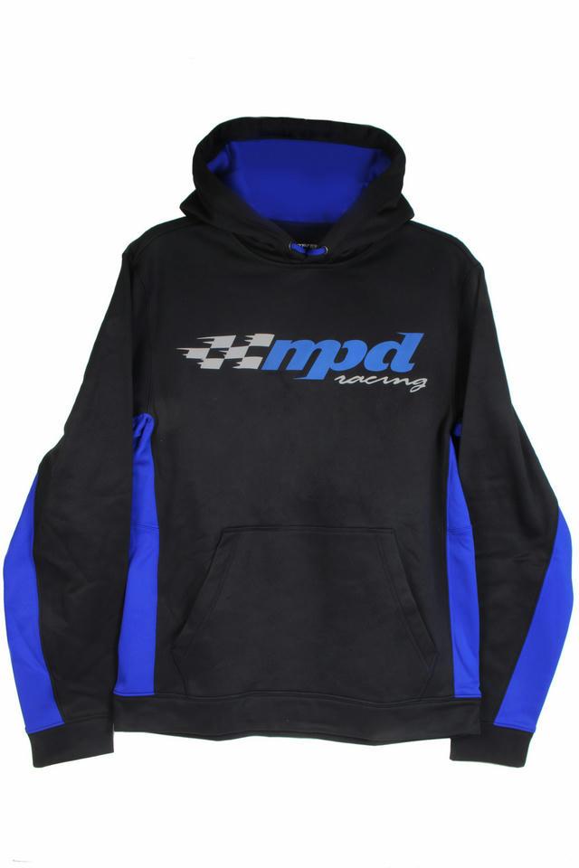 MPD Sport-Tek Black/Blue Sweatshirt Medium