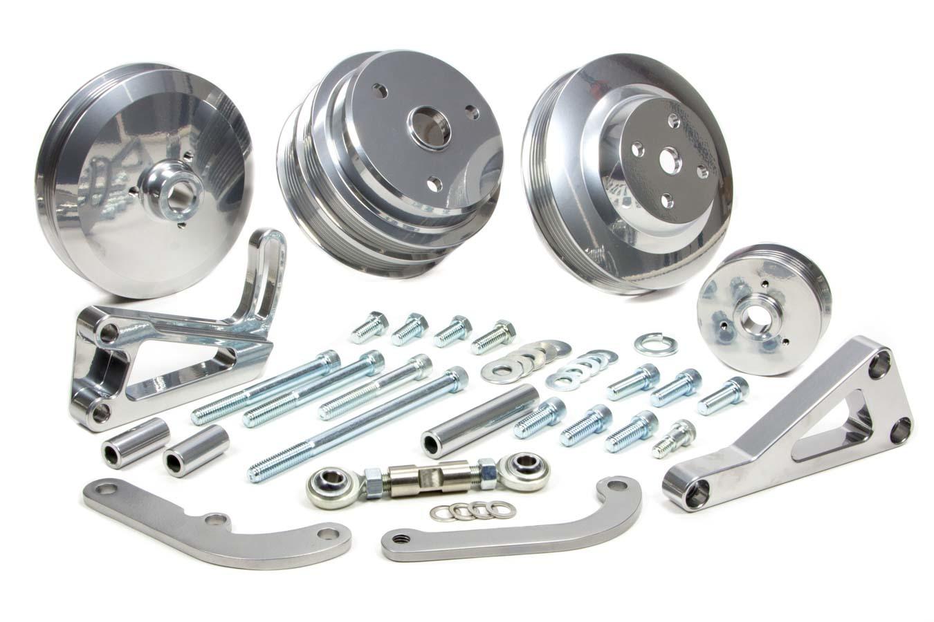 SBC Serpentine Conv Low Cost Custom Silver Kit