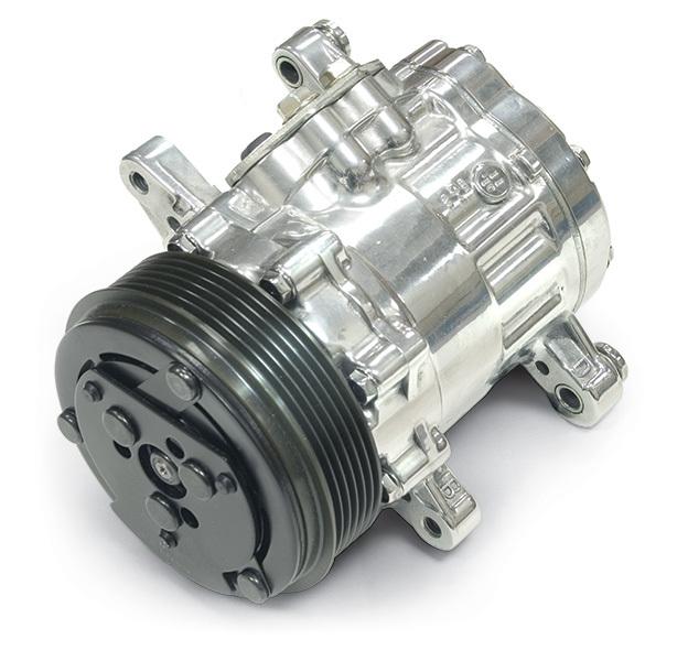 Sanden Style Chrome AC Compressor
