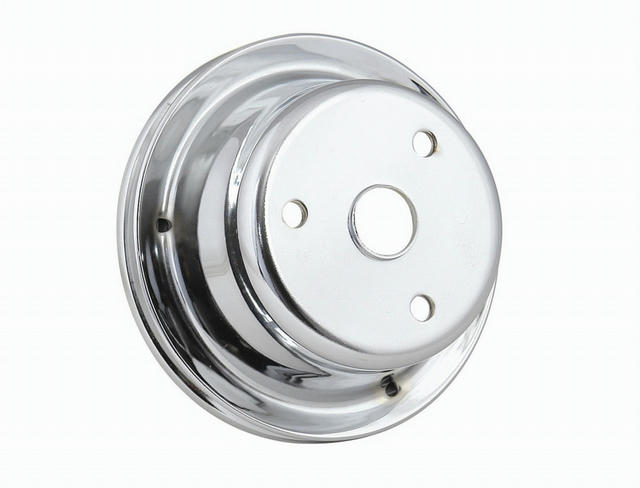 Chrome Crank Pulley Single Groove