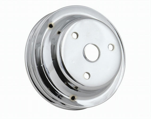 Chrome Crank Pulley Double Groove