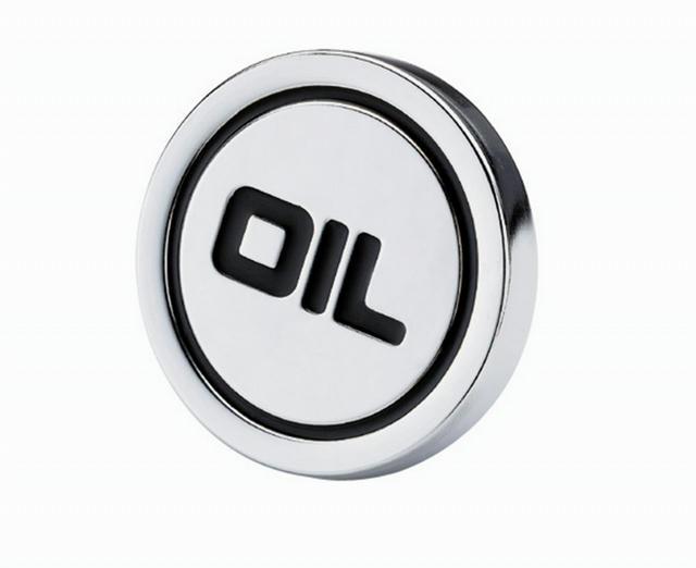 Chrome Push On Oil Plug