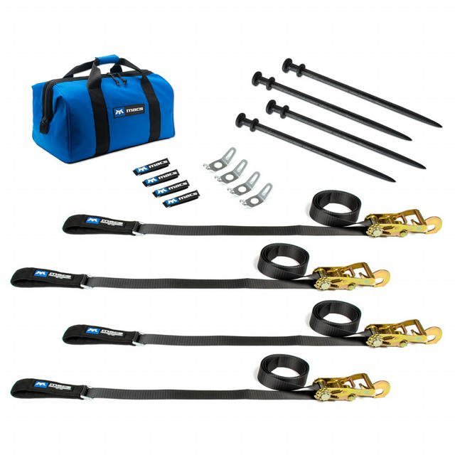 Tent Stake Fitting Pack with 24in Stakes