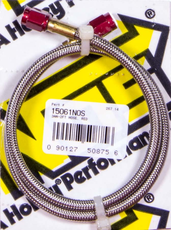 Braided Hose - 3an Red Fittings 24in Long