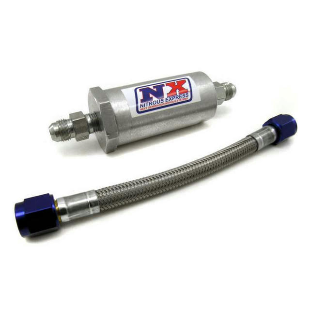 6an Pure-Flo Nitrous Filter w/7in S/S Hose