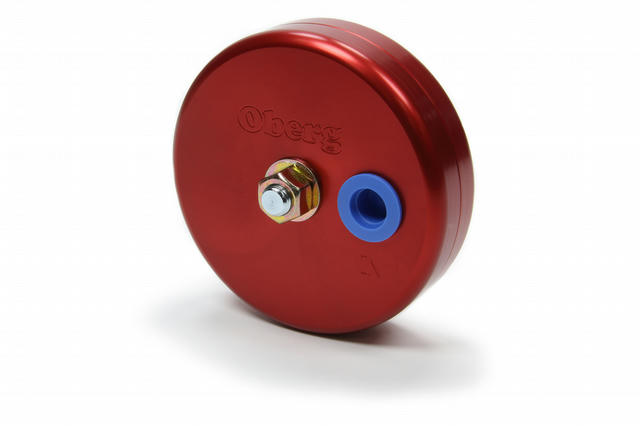 UFO Billet Fuel Filter - 4in 28-Micron Red