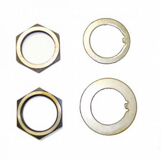 Spindle Nut/Washer Kit; 41-45 Willys MB - Rear