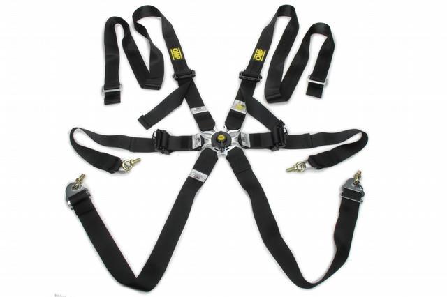 Safety Harness In Poly 6pt Black P/D Steel Adj