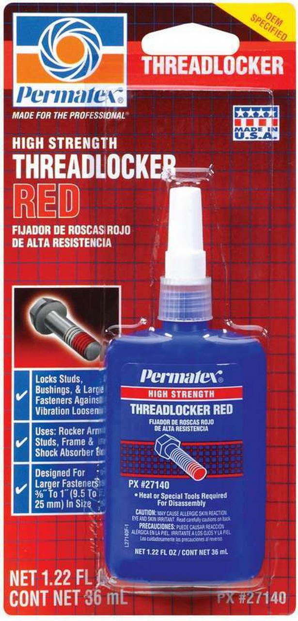 Red Threadlocker 36ml Bottle