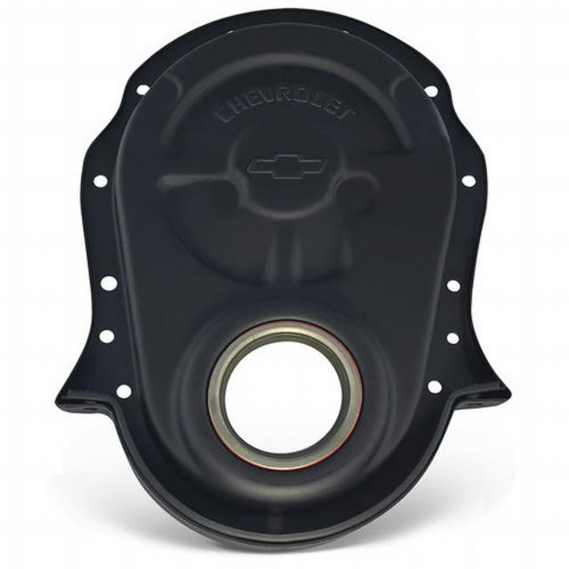 BBC Timing Chain Cover Black Crinkle