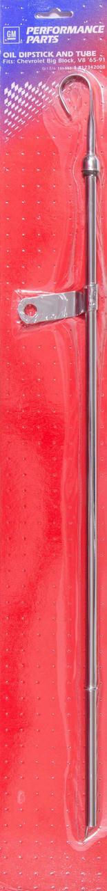 65-91 BBC Chrome Bowtie Oil Dipstick