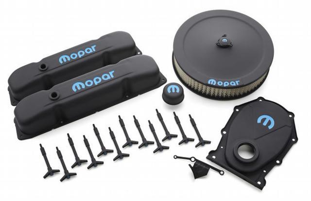 Engine Dress-Up Kit Blac k Crinkle w/Blue MOPAR