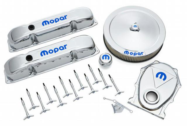 Engine Dress-Up Kit Chro me w/Blue MOPAR