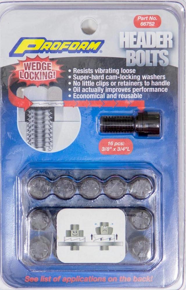Wedge Locking Header Bolts - 3/8 x 3/4L (16)