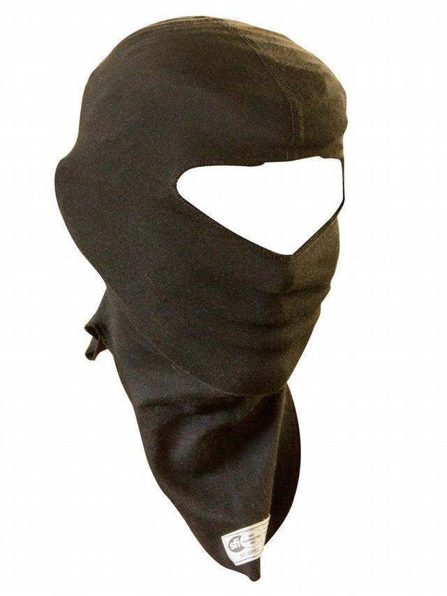 Head Sock Black Youth 1 Layer Single Eye Port