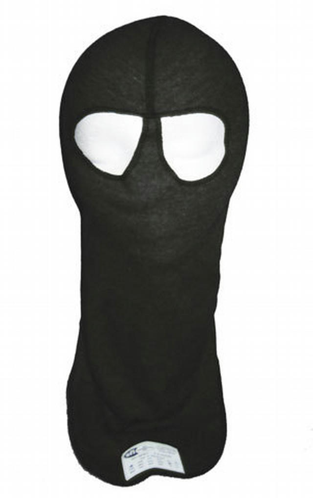 Head Sock Black Dual Eyeport 2 Layer