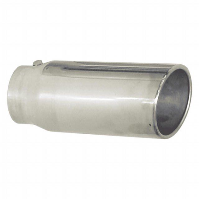 Exhaust Tip 4in x 5in 12in L Polished Bolt-on