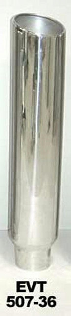 Exhaust Stack 5in x 7in 36in L Polished