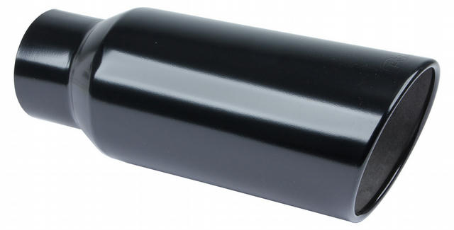 Exhaust Tip 5in x 7in 18in Rolled Blk Weld-on