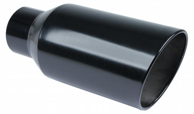 Exhaust Tip 5in x 8in 18in Rolled Blk Weld-on