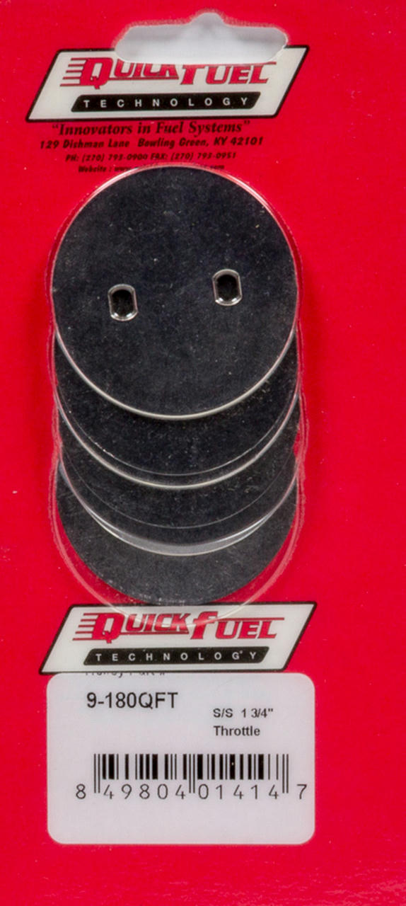1-3/4in SS Throttle Plates (4 Pack)