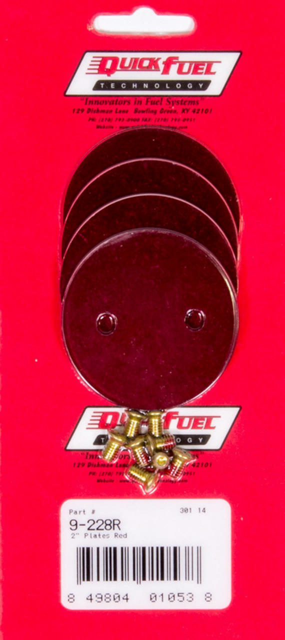 2in Throttle Plates Red Anodized (4 Pack)