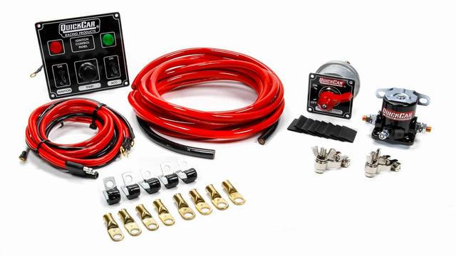 Wiring Kit 4 Gauge with Black 50-822 Panel