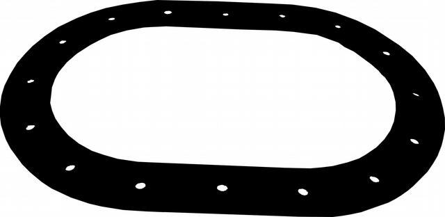 Gasket Oval Fill Plate 16-Hole for C/T Cells