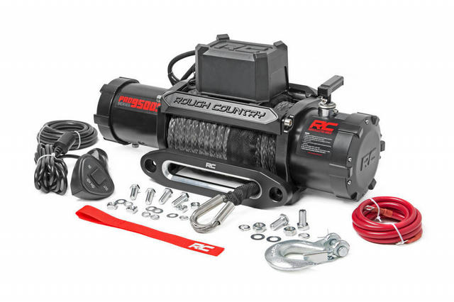9500lb Pro Series Electr ic Winch Synthetic Rope