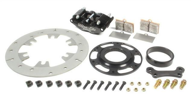 Right or Left Rear Brake Kit TI Rotor Black
