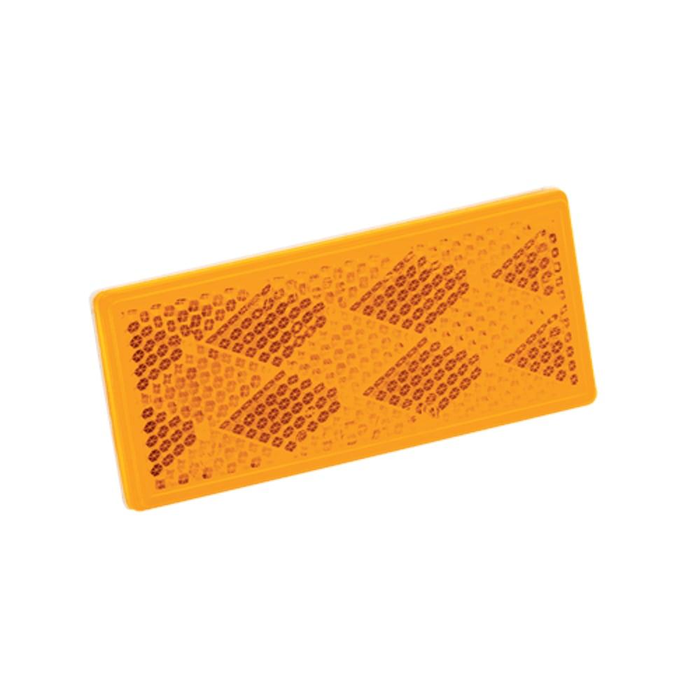 Rectangular 3-1/4in x 1- 1/2in Amber Reflector w/