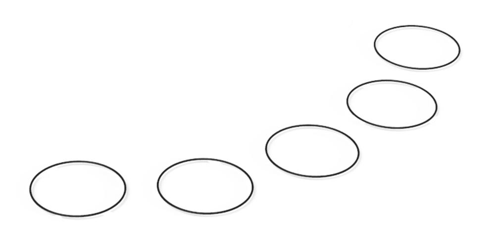 Replay PrimeX Lens Bezel & Rear Cap O-Ring 5 Pack